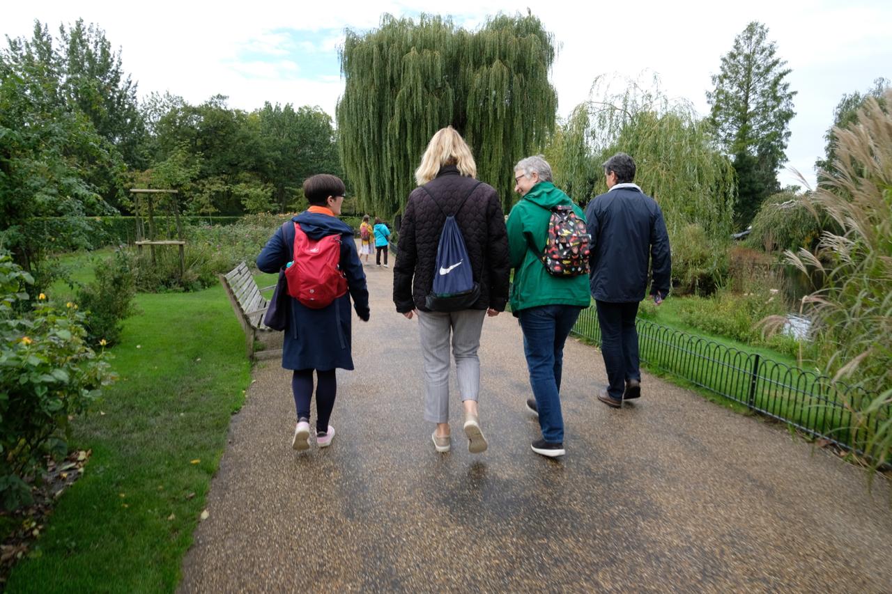 Wayfinding Walk Participants in Regents Park