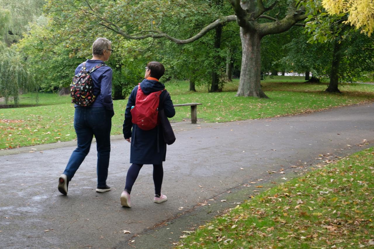 Walking in Regents Park