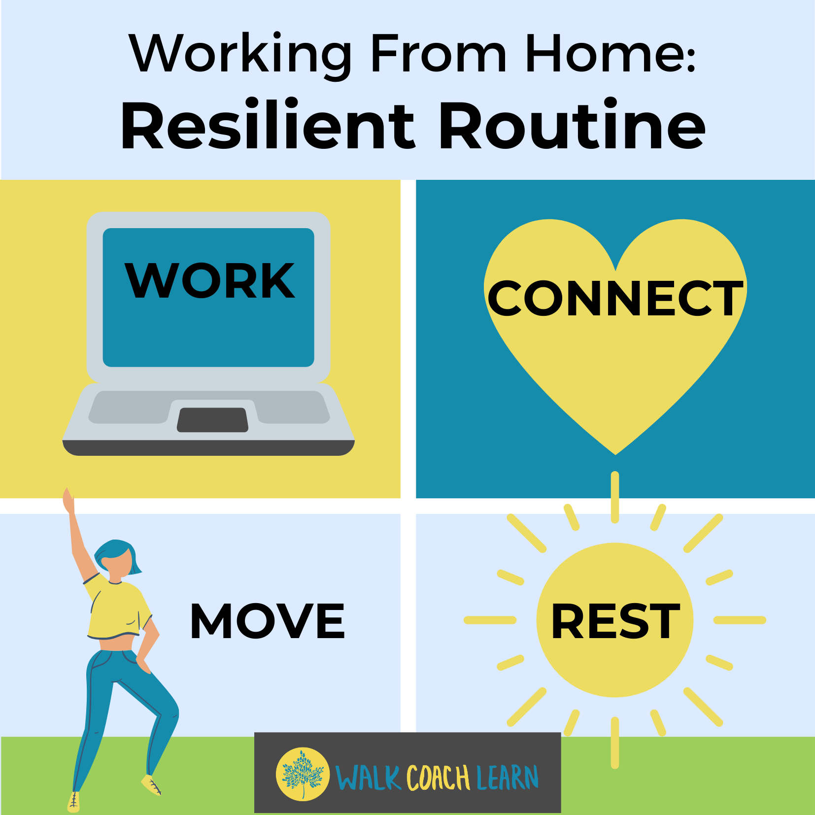 Working From Home Resilient Routine