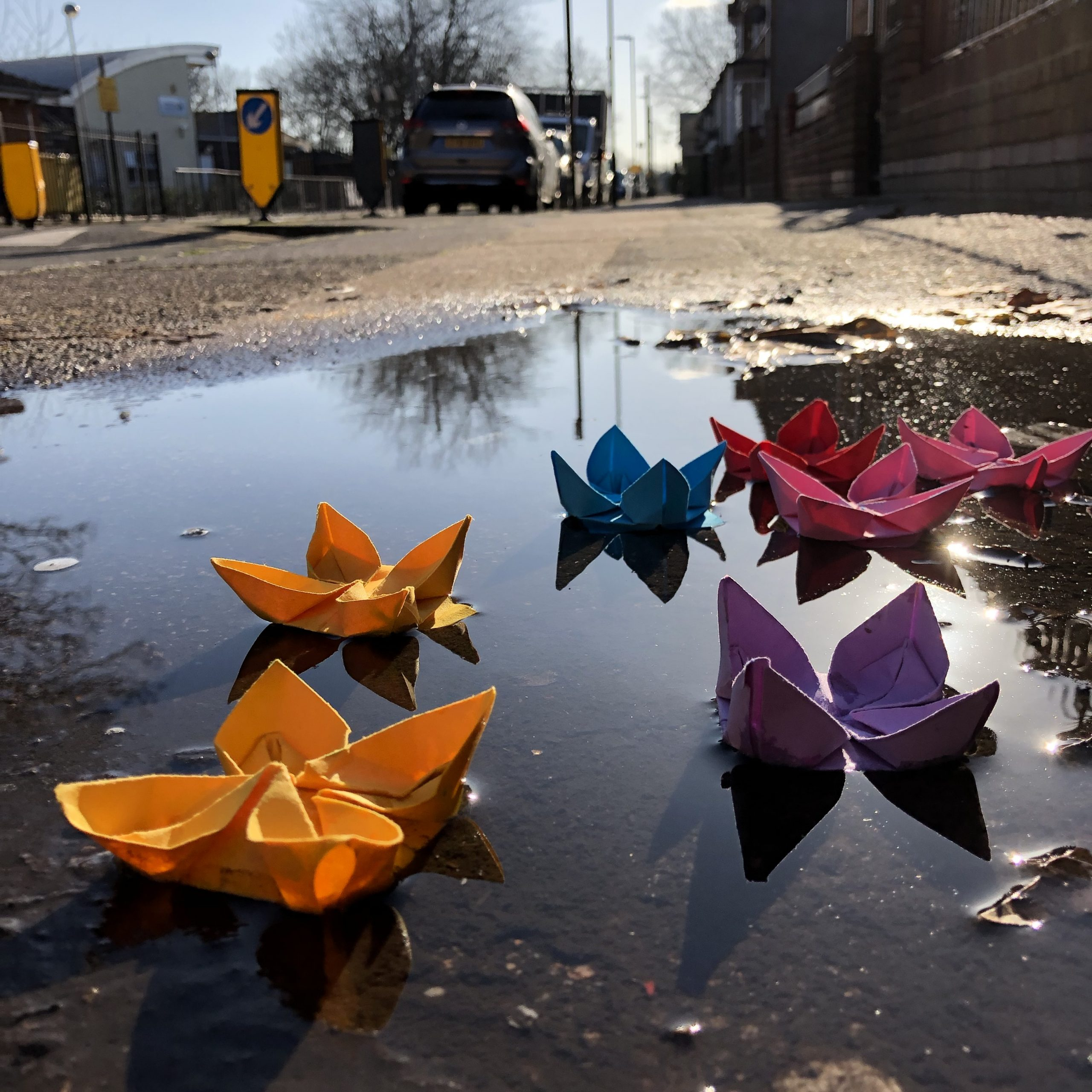 The Streets of London Are Paved in Puddles & Flowers